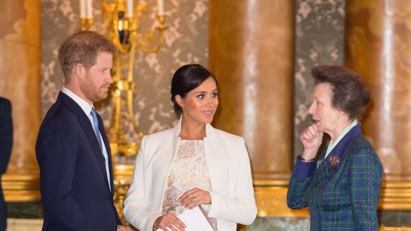 Príncipe Harry, Meghan Markle y la princesa Ana