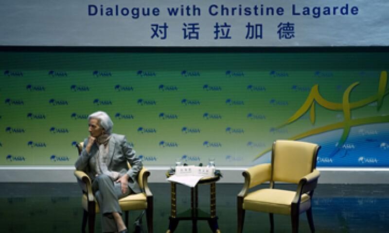 La francesa Christine Lagarde participó en el Foro Boao, en China. (Foto: AP)