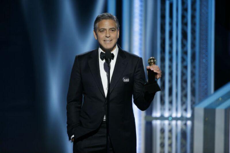 George Clooney, Amal Clooney y el compositor francés Alexandre Desplat.
