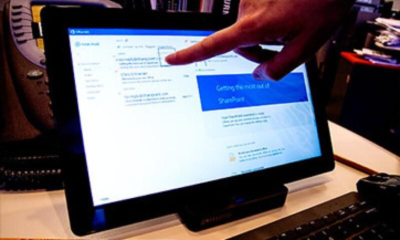 La capacidad táctil es lo más innovador del software, pero también su mayor problema. (Foto: Cortesía CNNMoney)