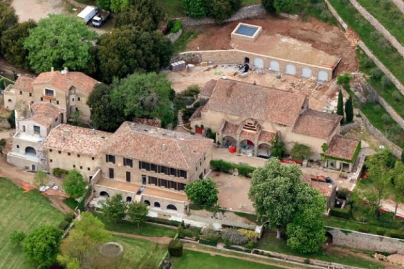Chateau Miraval, la residencia en Francia de la pareja donde se llevó a cabo la boda.