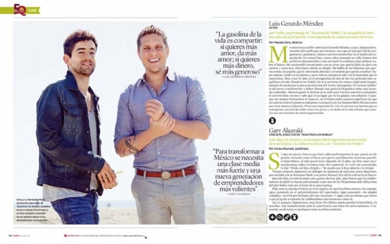 La revista Quién busca desde hace cuatro años reconocer el talento de aquellos personajes que ponen el nombre de México en alto. Aquí parte dela lista, de este año.