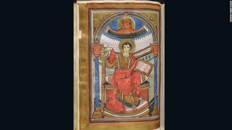 Los Evangelios dorados de Harley (aprox. 800), Aquisgrán, Imperio carolingio