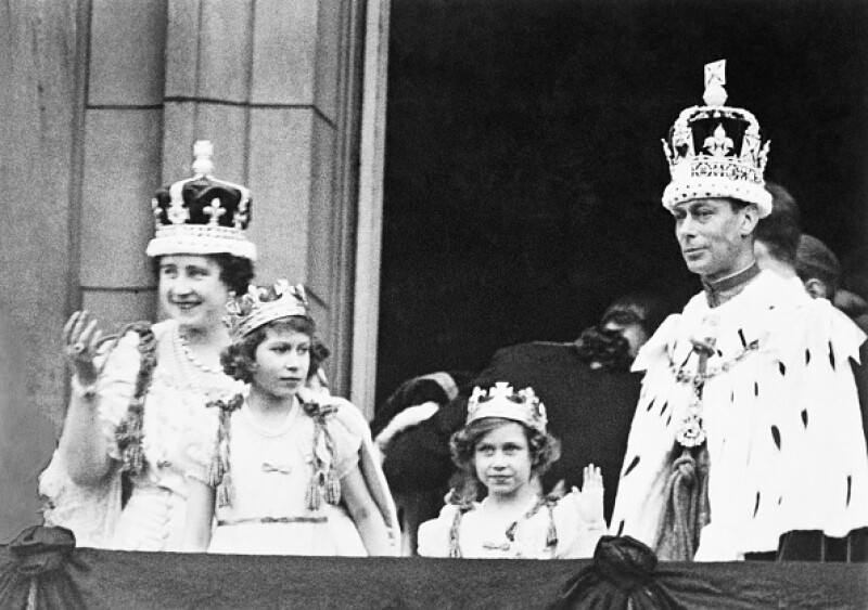 King George VI and Family in Royal Regalia