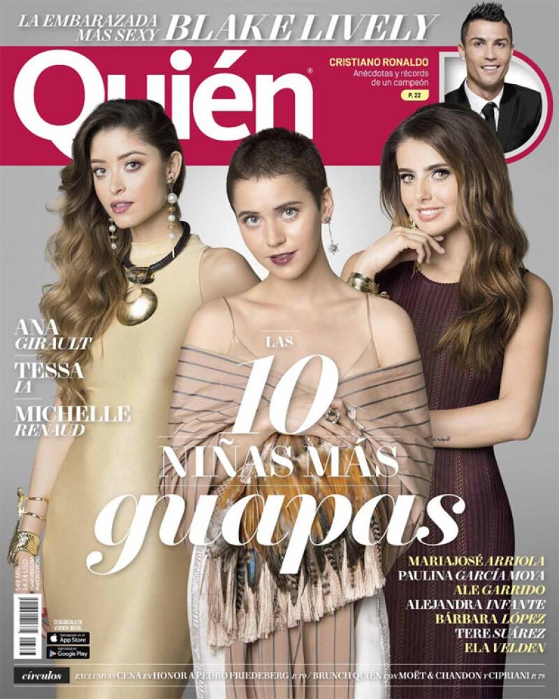 La actriz se portó de lo más simpática durante el shooting de portada para la edición con Las 10 niñas más guapas que año con año publicamos en Quién.