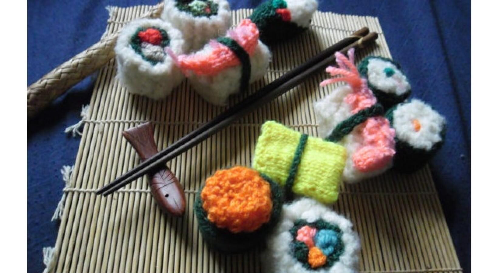 sushi japon alimentos artesanias objetos juguetes