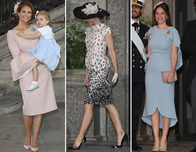 Duelo de estilo: la princesa Magdalena de Suecia, la princesa  Margarita de Dinamarca y la princesa Sofía fueron de las mejor vestidas.