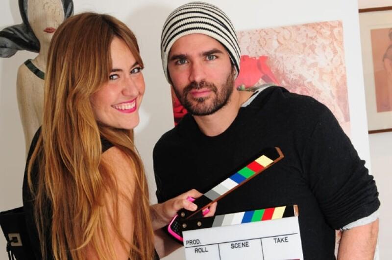 Lucía Orozco con Eduardo Verástegui