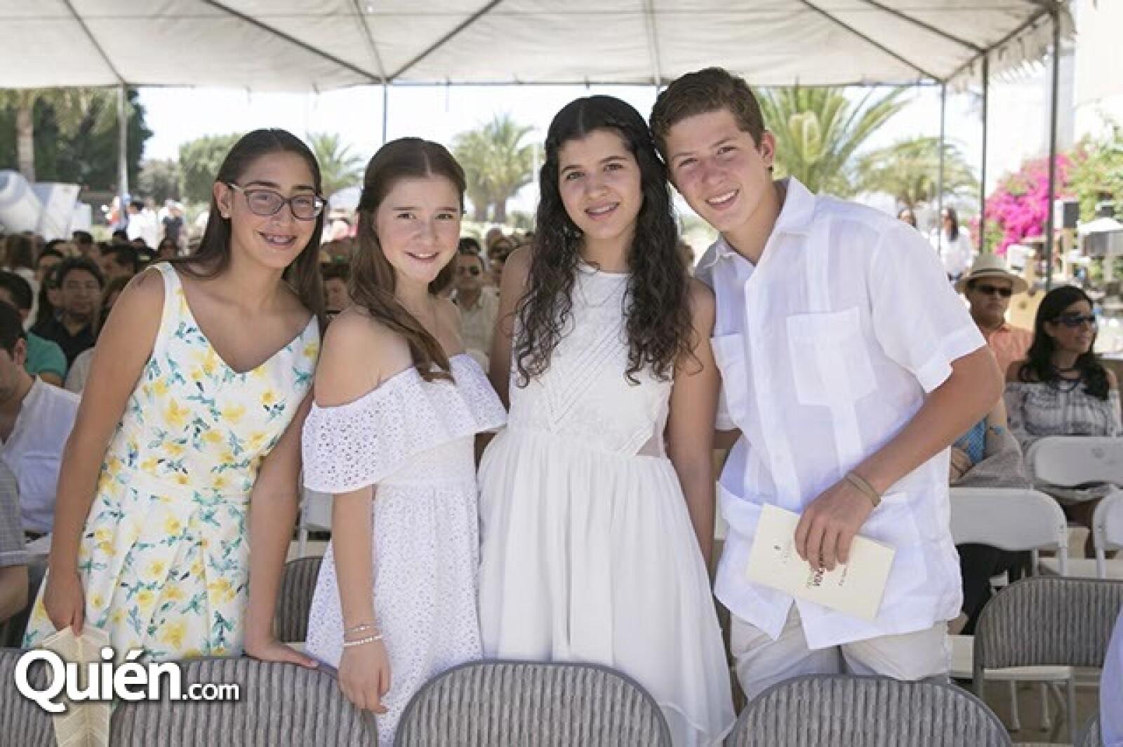 Monica Cetto,Daniela Cetto,Jimena Molina y Alejandro Septién