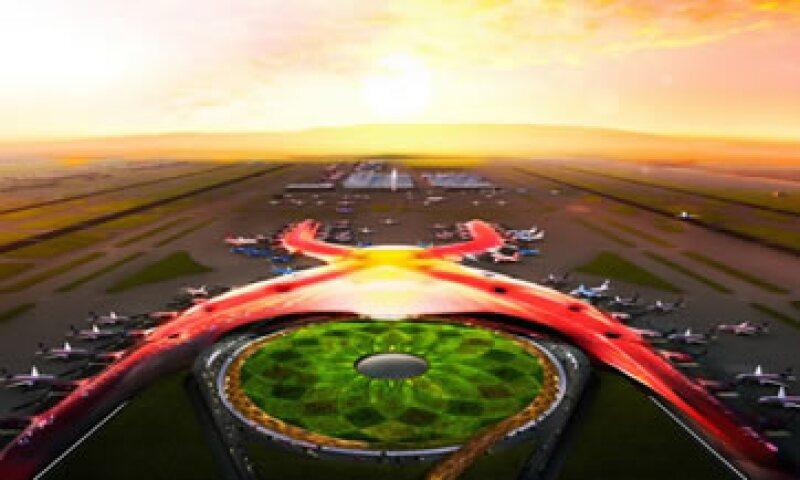 El aeropuerto del DF recolectará agua de lluvia, la cual será tratada y reciclada. (Foto: Tomada de presidencia.gob.mx)