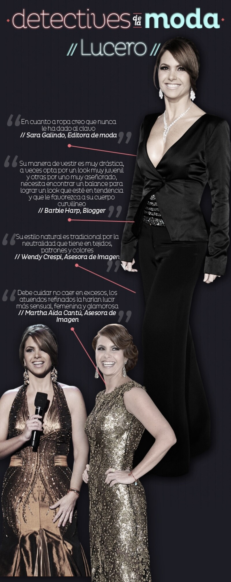 Es claro que Lucero está optando por outfits más sexys que nunca, así que llamamos a conocedoras de moda para que nos dieran su opinión sobre este nuevo lado de la actriz.