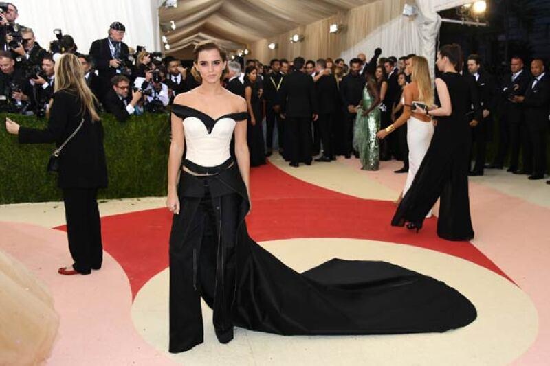 Emma también dejó en claro que en el futuro piensa reusar las piezas de su traje.