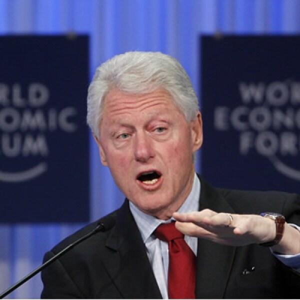 El ex presidente de EU, Bill Clinton, no se pierde un Foro, aunque ahora lo hace para impulsar sus proyectos personales.
