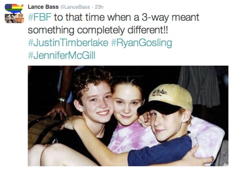 Lance Bass, ex integrante de Nsync, compartió en su twitter esta tierna imagen de sus amigos de infancia.