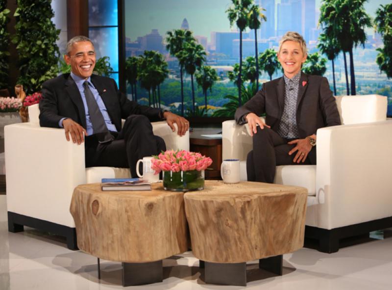 Obama envió a su esposa un divertido y tierno mensaje con la ayuda de Ellen.