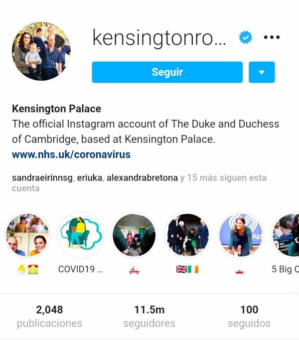 Instagram Kate Middleton y príncipe William