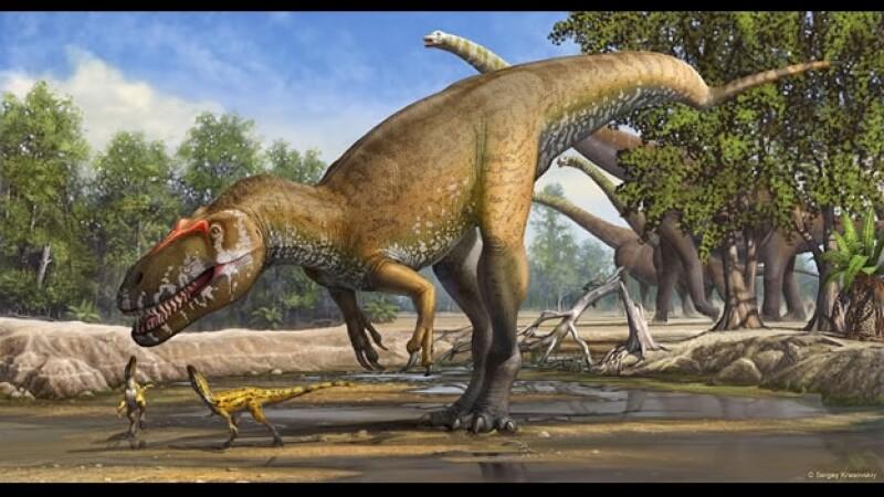 Una ilustración de cómo se habría visto el Torvosaurus gurneyi