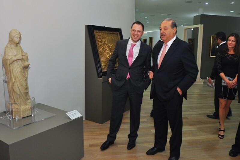 Alfonso Miranda y Carlos Slim.