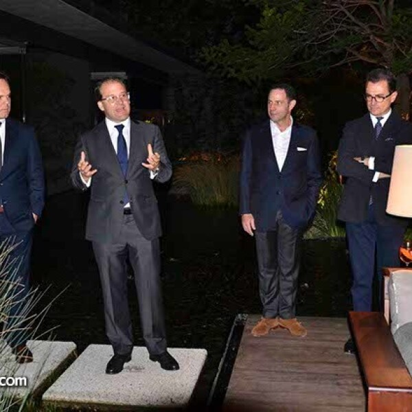 En la presentación de Technogym: Carlos Gómez,Bernardo González,Sergio Berger,Enrico Bracesco y Nero Alessandri.