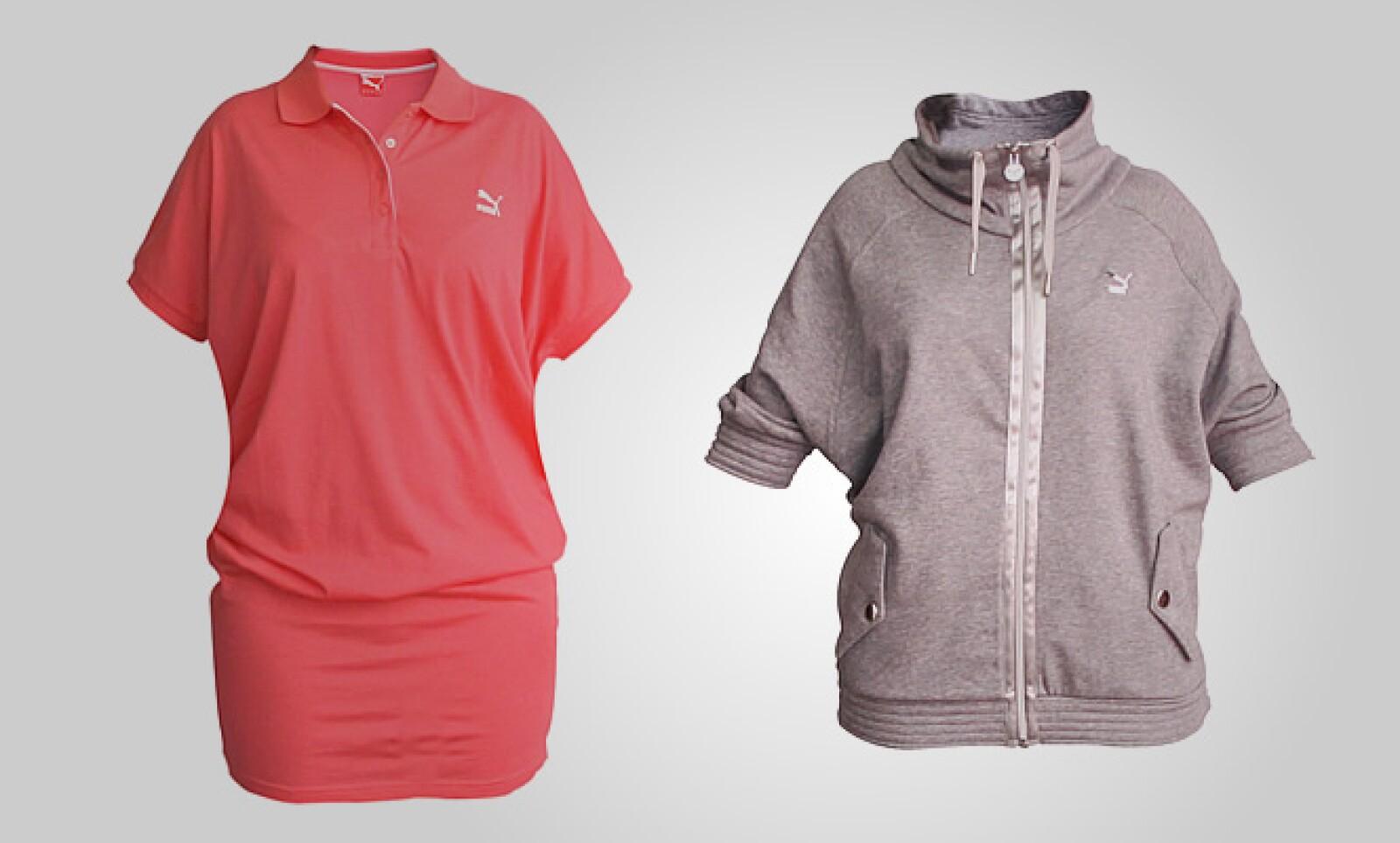Para ellas, estas dos opciones de vestido corto y chamarra ligera pueden funcionar para una tarde de sábado.