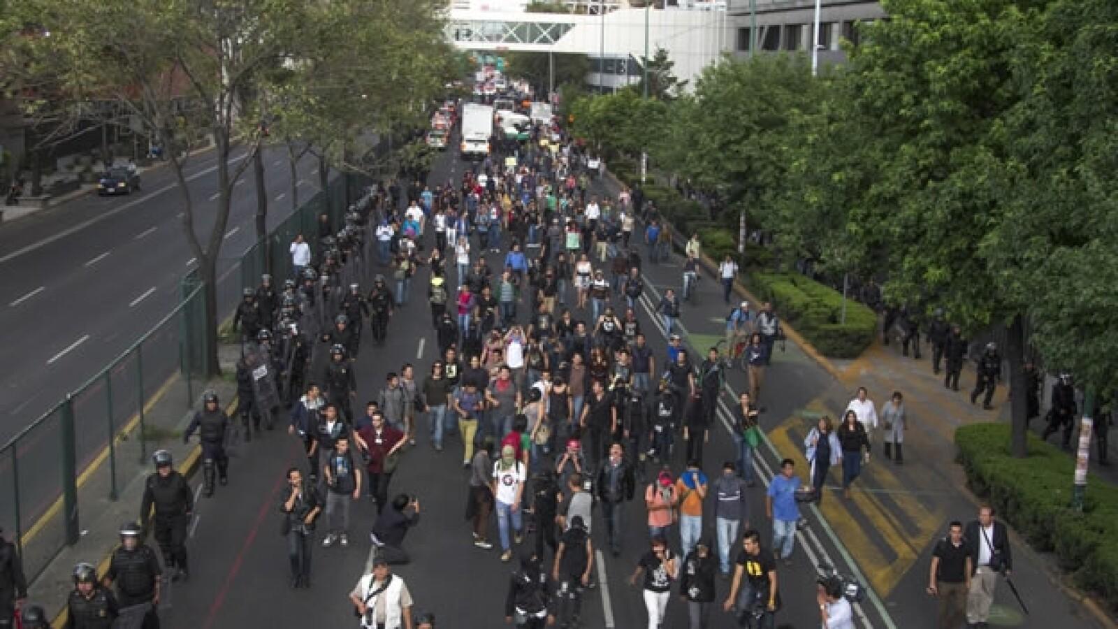 marcha, mexico, anarquistas