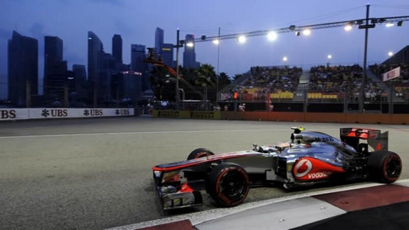 Lewis Hamilton calificación Singapur