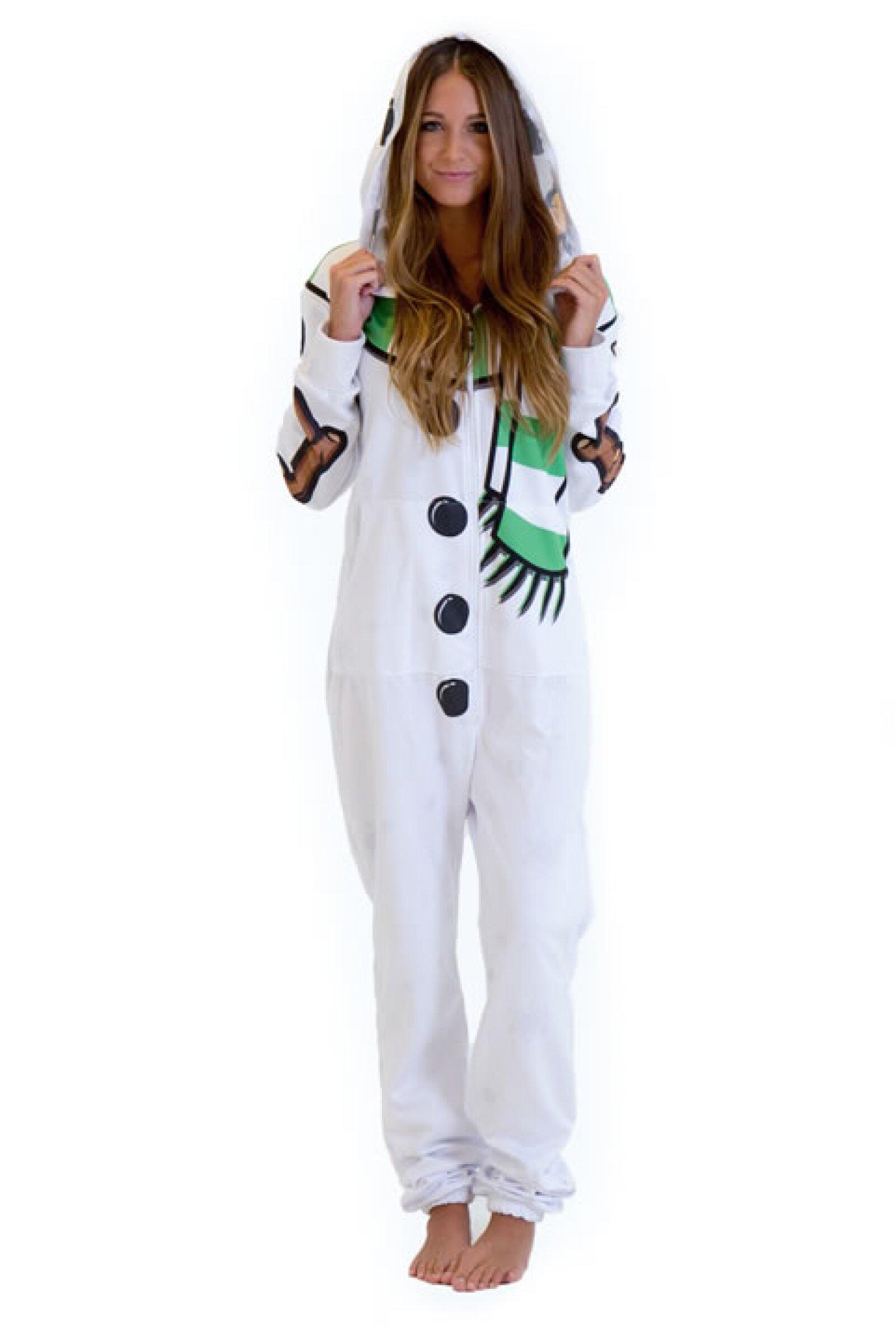 Onesie en forma de mono de nieve diseñado por Katy Perry. 2,228 pesos, precio aprox. en BelovedShirts.com.