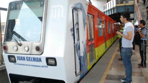 Octavo tren rehabilitado de la L�nea B del Metro de la Ciudad de M�xico