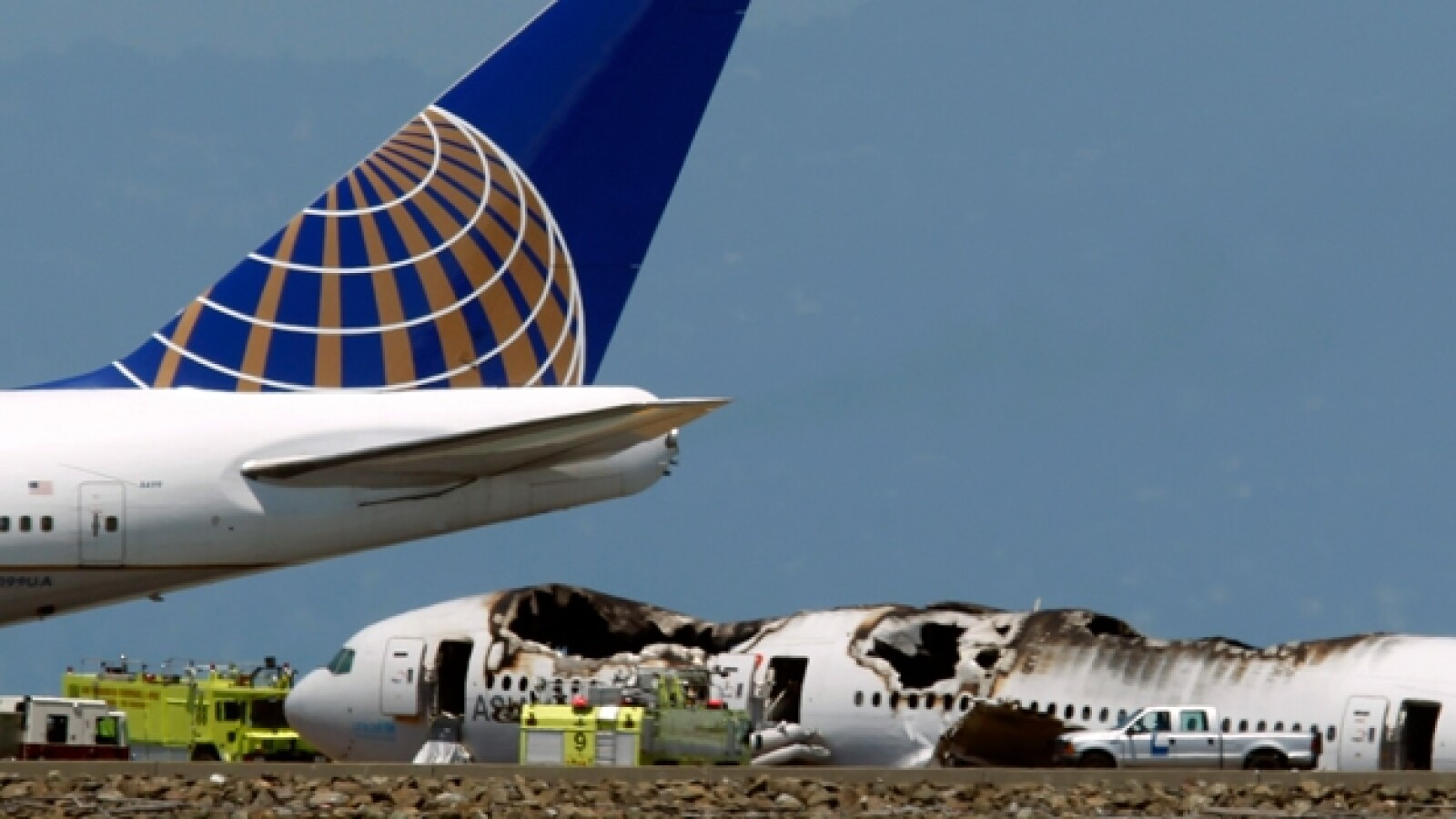 avion san francisco, accidente