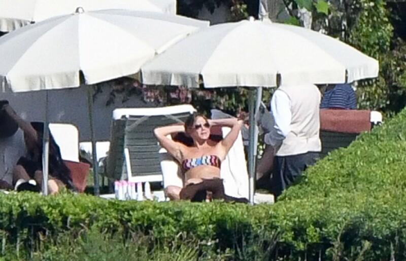 La actriz estuvo disfrutando de un día relajado y soleado en Italia.