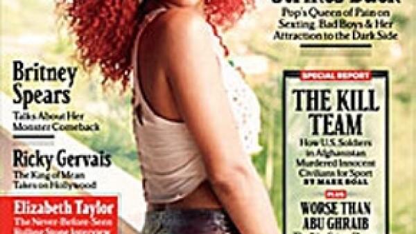 La cantante declaró a la revista estadounidense Rolling Stone que al momento de tener relaciones sexuales le agrada el que su pareja sea un poco agresiva.