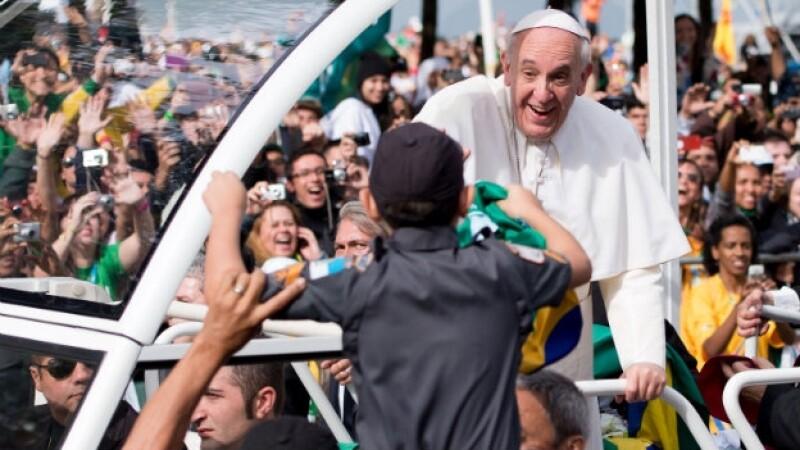 El papa Francisco exhibe su carisma
