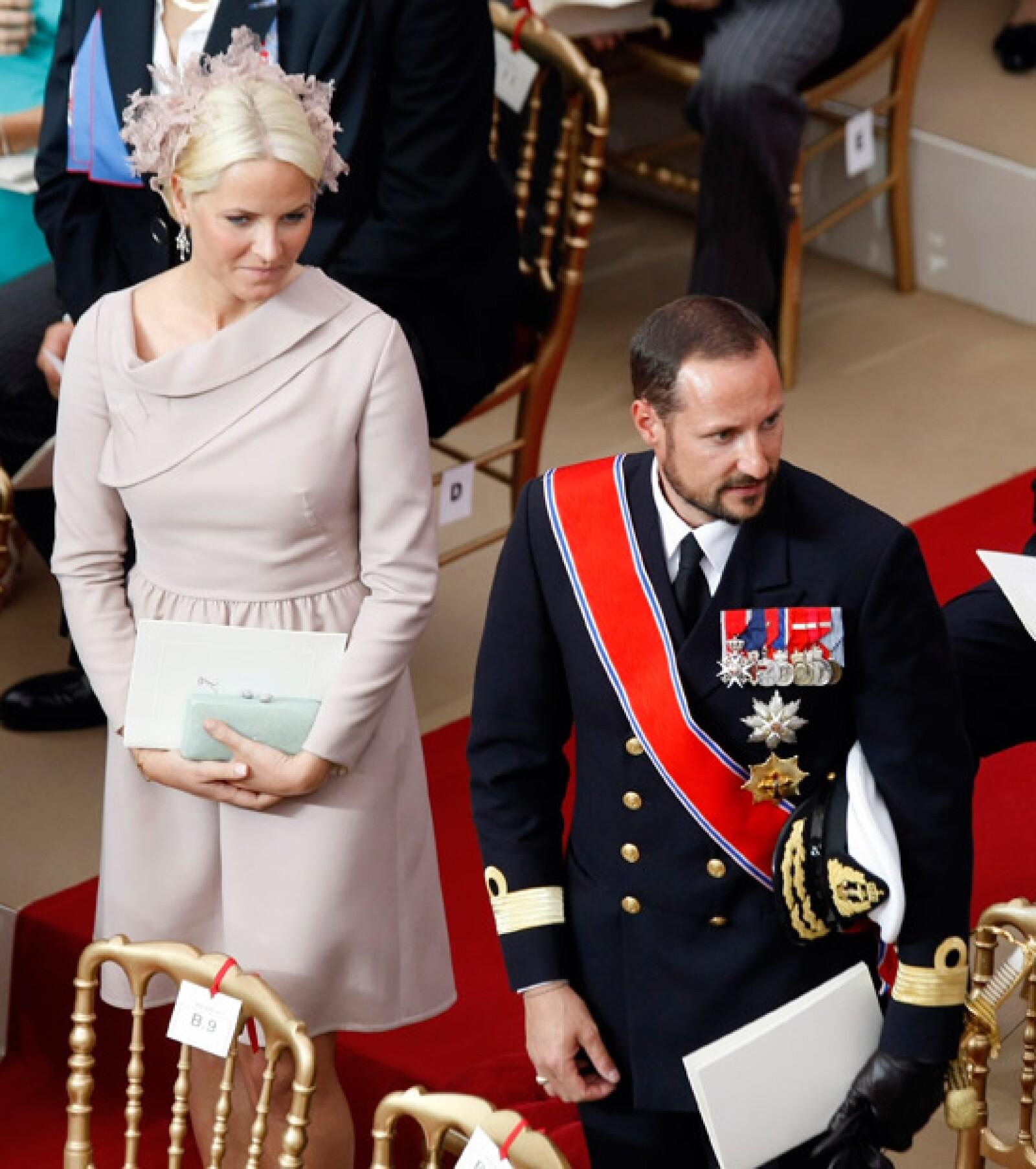 Los príncipes de Noruega, Mette Marit y Haakon.
