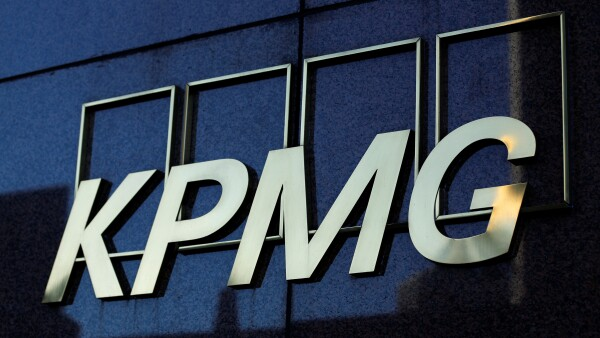 FILE PHOTO: A KPMG logo is seen on their down town office tower in Los Angeles, California