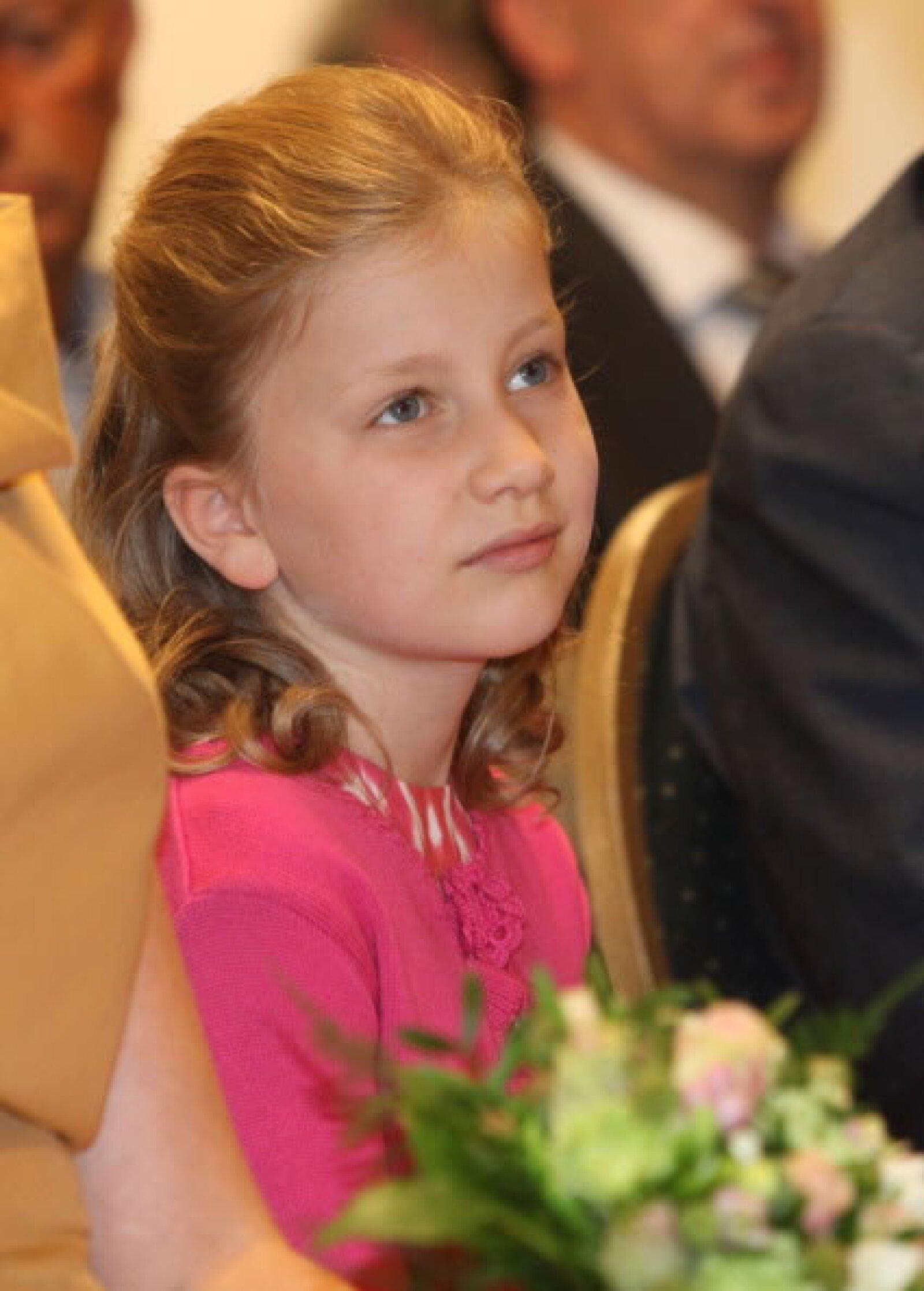 El día de mañana esta niña podrá ser Reina de los Belgas.