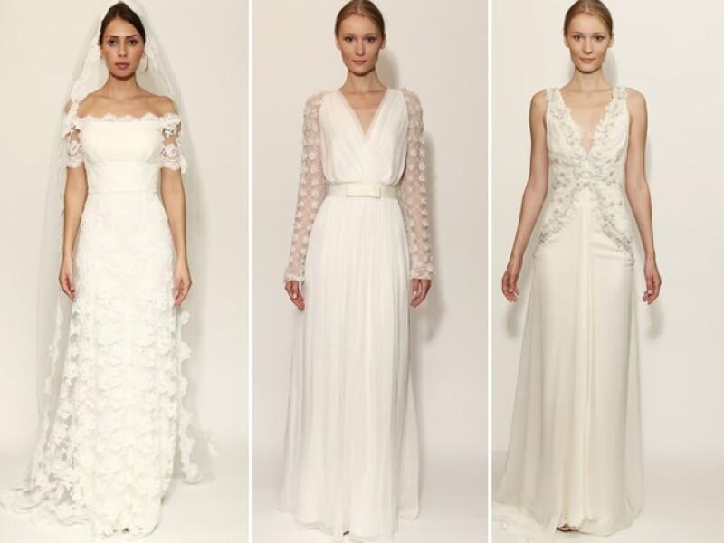 De aires de old Hollywood a jardines secretos te traemos las últimas propuestas para vestidos de novia desde la Semana de Novias para Otoño-Invierno 2014.