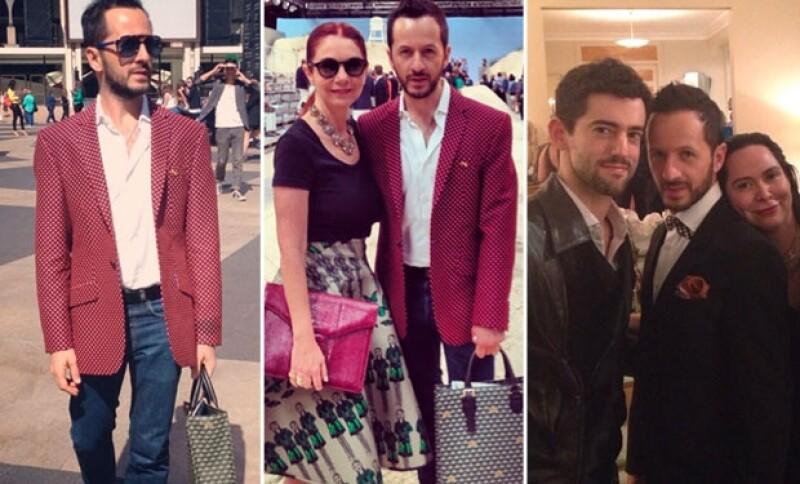 Óscar Madrazo ha asistido a las pasarelas más exclusivas del Fashion Week. Lisette Trepaud y Óscar Madrazo. Luis Gerardo Méndez, Óscar Madrazo y la estilista Alexa Rodulfo.