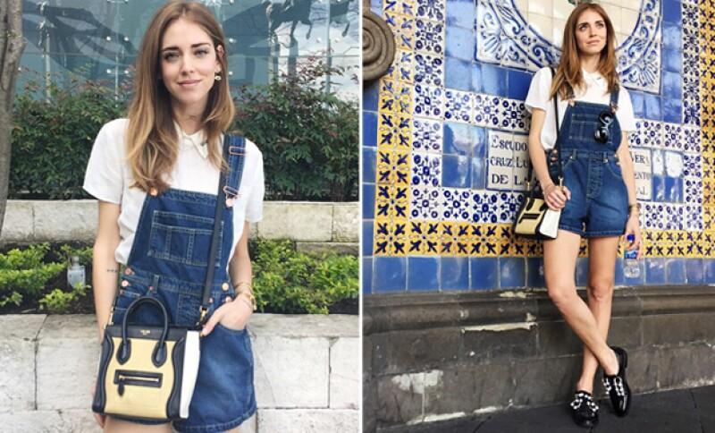 Chiara presumió su look para turistear por la ciudad.