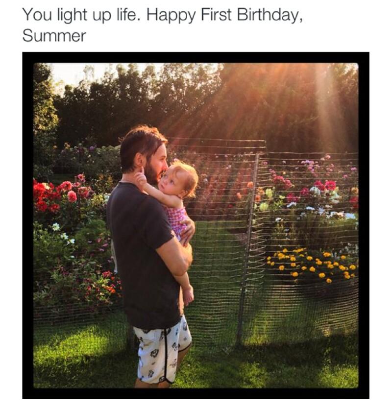 Papá orgulloso: Matt celebró el cumpleaños de su hija con esta tierna foto.