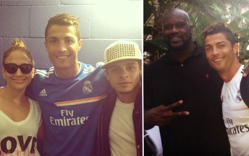 La gira estadounidense del equipo se ha convertido en el escenario para que los futbolistas conozcan a grandes figuras del mundo del espectáculo como Jennifer Lopez y Jamie Foxx.