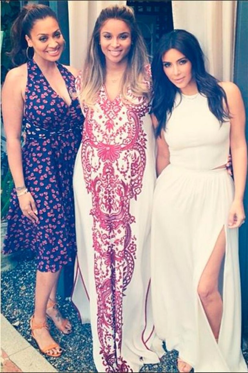 Kim Kardashian asiste al baby shower de su amiga Ciara