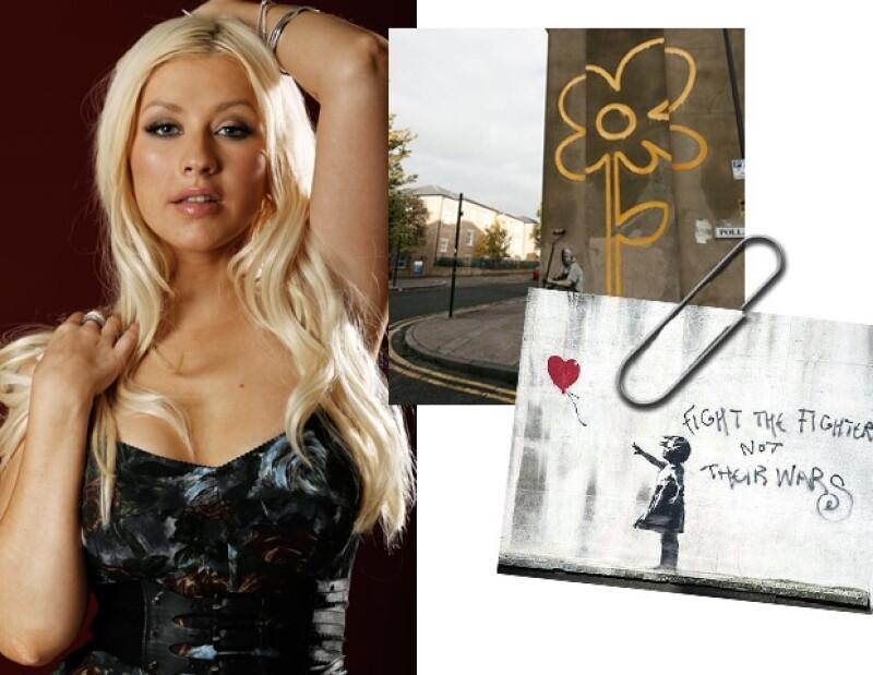 Christina Aguilar se pronunció fan de Robert Banksy