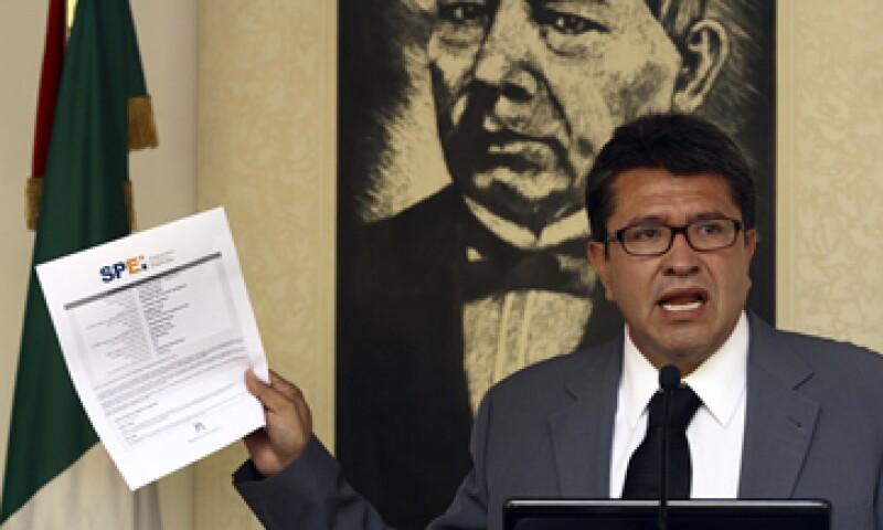 Ricardo Monreal indicó que la denuncia se presentará ante la PGR y la SIEDO. (Foto: Notimex)