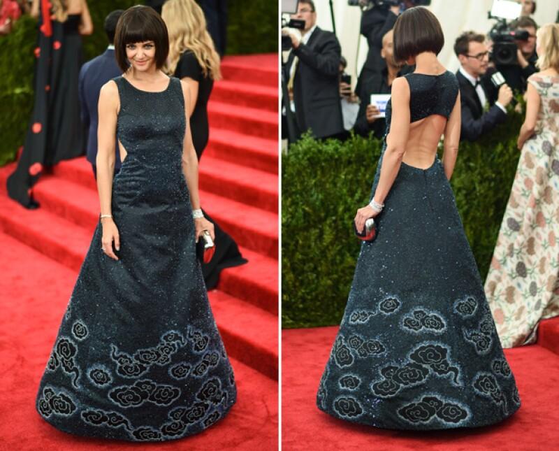 Así se veía Katie Holmes en su más reciente aparición en la alfombra roja de Cannes.