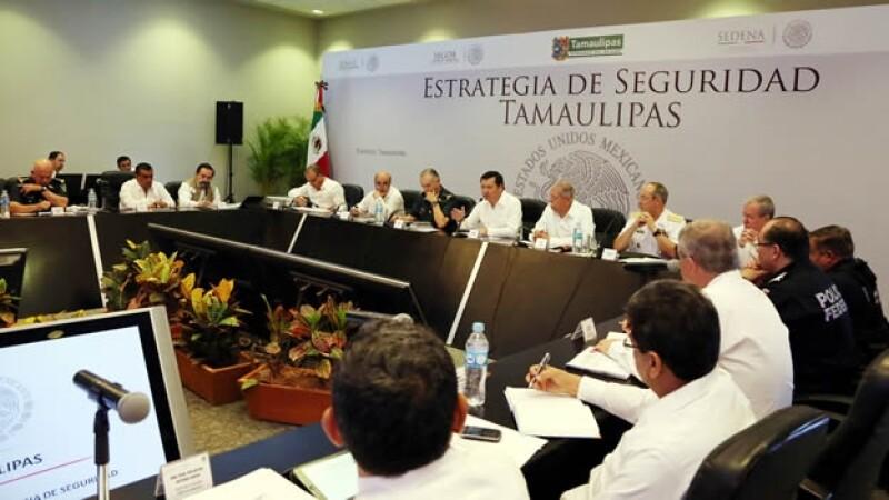 Funcionarios federales y estatales analizaron los avances en materia de seguridad en Tampico, Tamaulipas, este lunes
