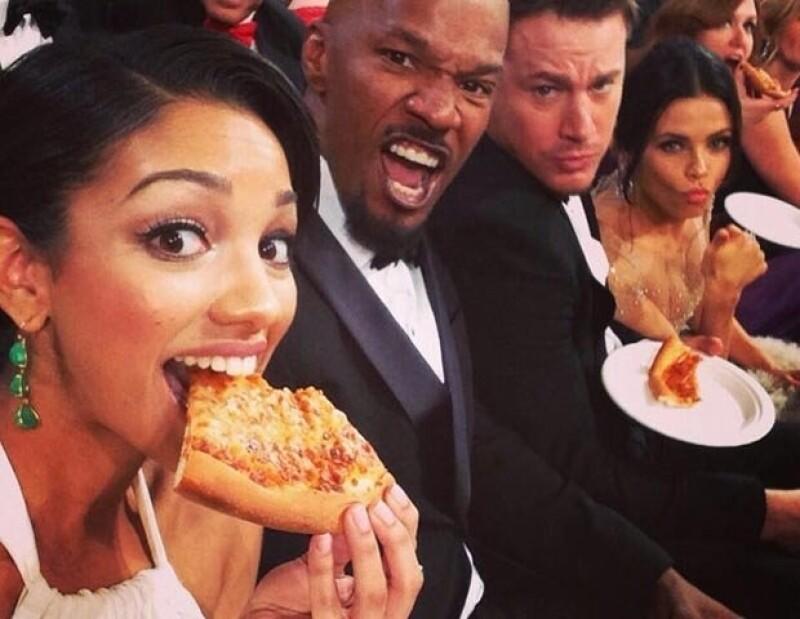 Pizza en los Oscar.
