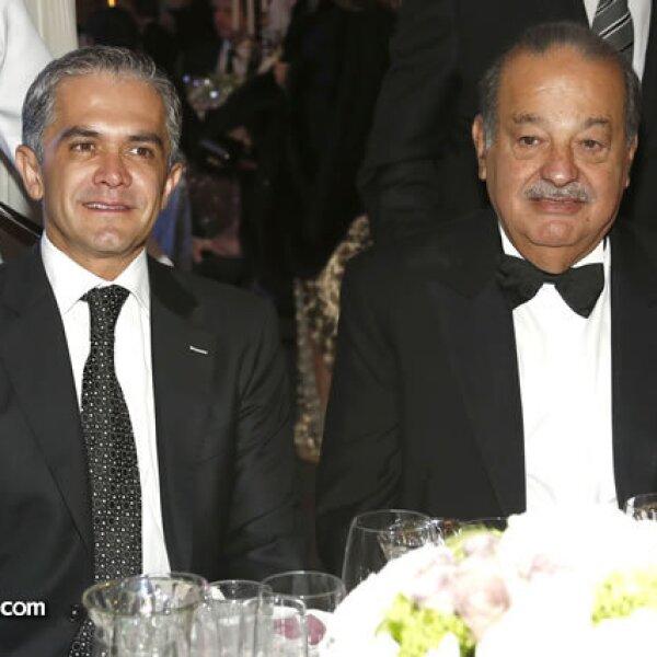 Miguel Ángel Mancera y Carlos Slim
