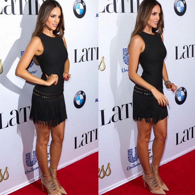 La actriz en otro evento, ahora de la revista Latina.