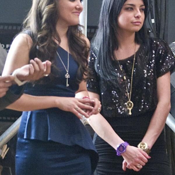 Las actricez Sherlyn y Violeta Isfel se mostraron atentas ante las indicaciones del productor del video Pedro Torres.