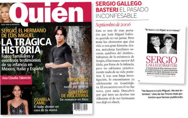 The cover of Sergio Gallego Basteri in Who.